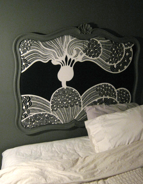 DIY Headboard with a simple frame