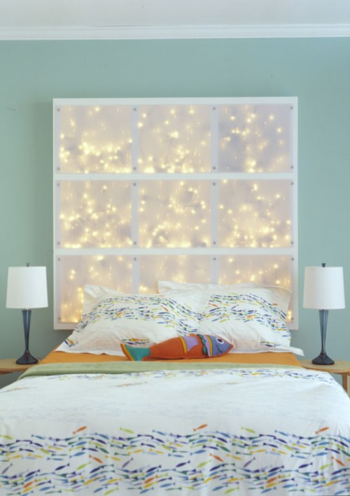 LED lit headboard