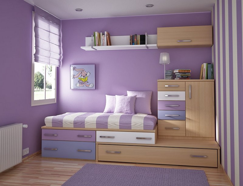 10 small bedroom ideas to make your room look spacious home and gardening ideas - Small space design ideas bedroom set ...