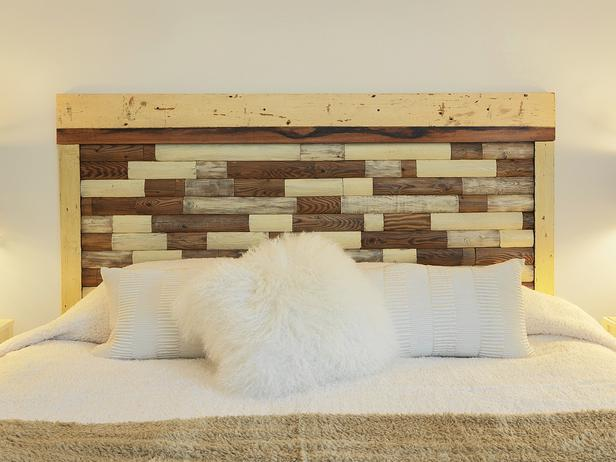 headboard from an old picket fence