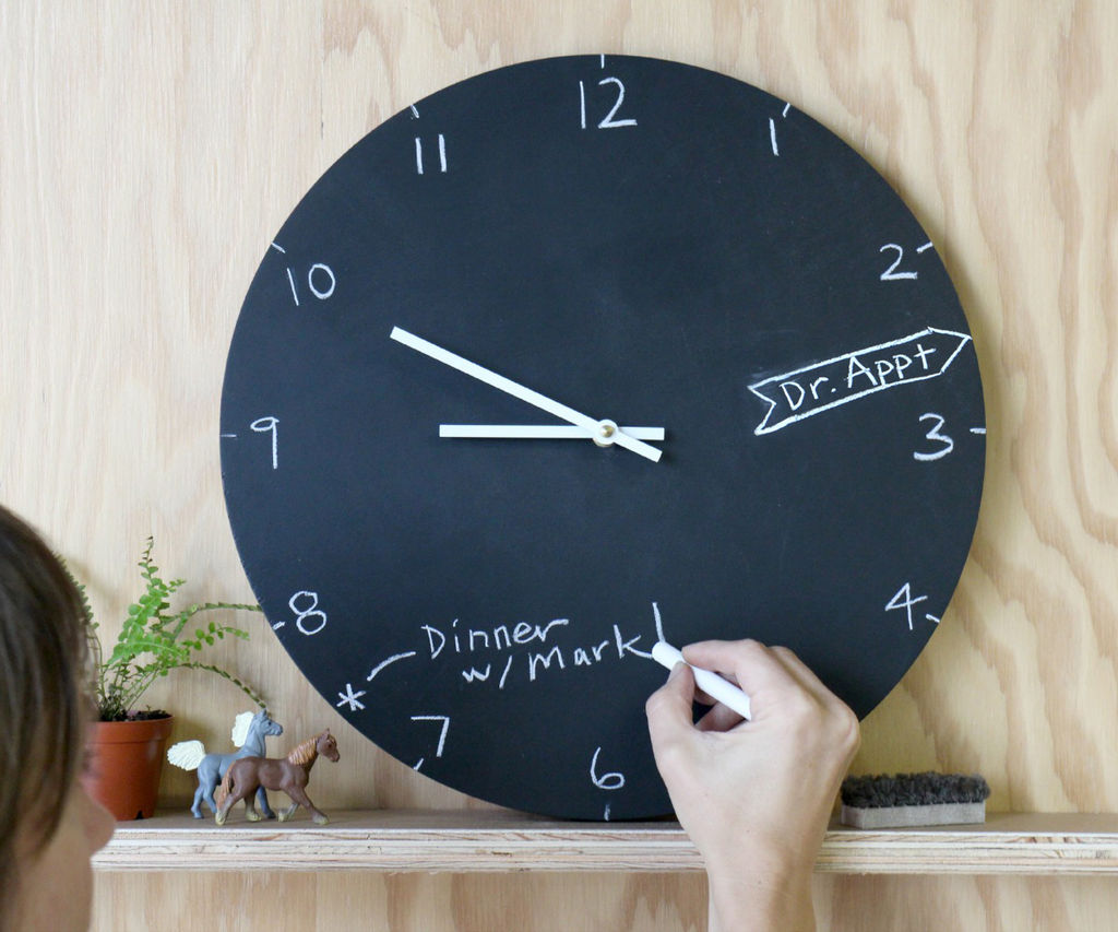 Chalkboard paint Clocks