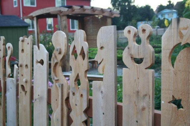 The Carved Character Fence