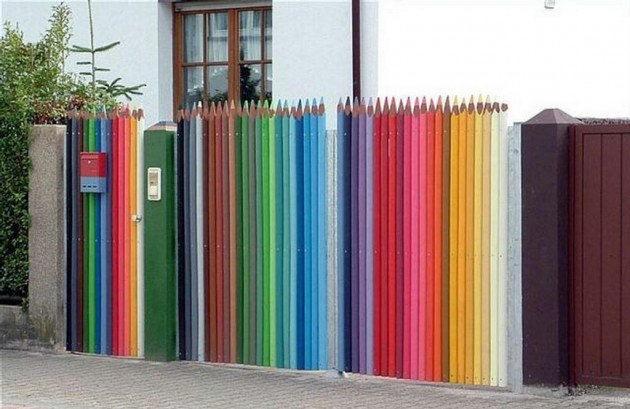 The Pencil Crayon Fence