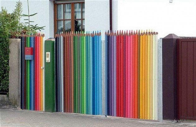 Fence Made Of Coloring Pencils