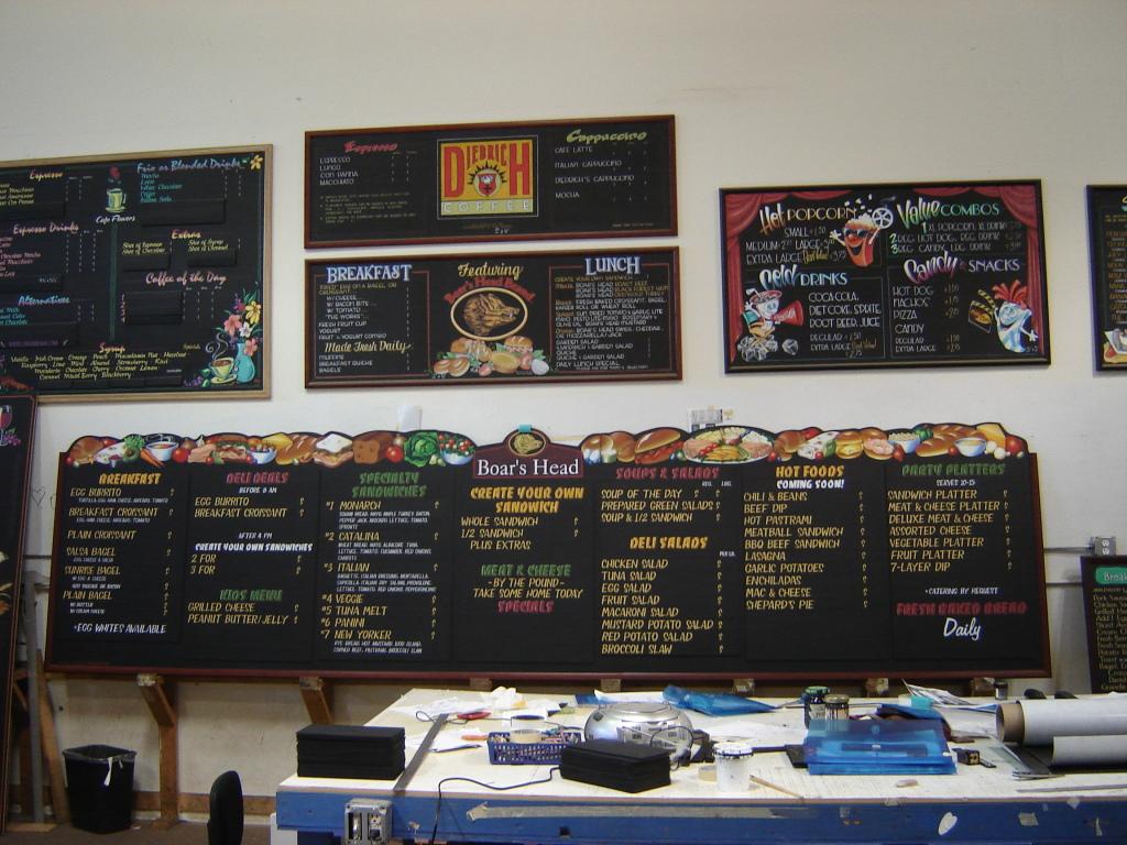 chalk paint restaurant menu