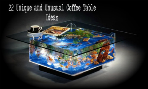 22 Unique And Unusual Coffee Tables Home Gardening Ideas