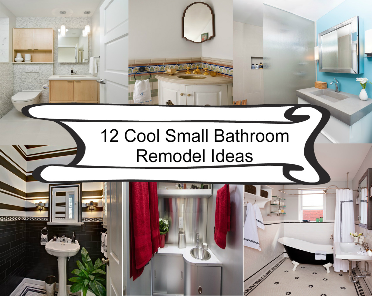 12 Cool Small Bathroom Remodel Ideas