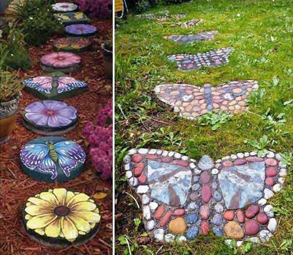 Making A Wonderful Garden Path Ideas Using Stones: 12 Lovely Garden Path And Walkways Ideas