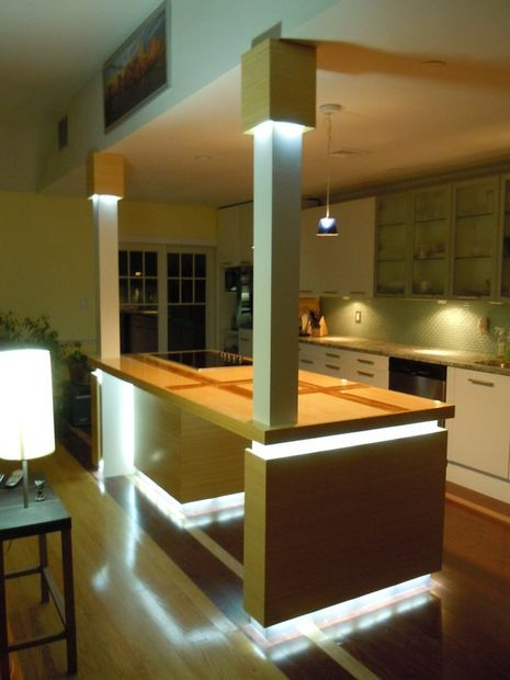 kitchen island led lighting 12 diy kitchen island designs amp ideas home and gardening 807