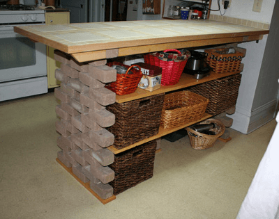 12 diy kitchen island designs ideas home and gardening for How to build a rustic kitchen island