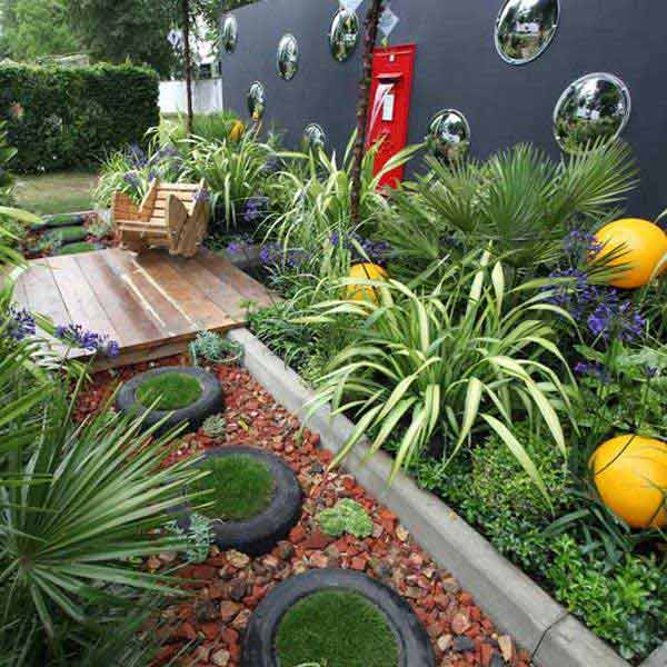 tyres for walkways - Garden Ideas Using Tyres