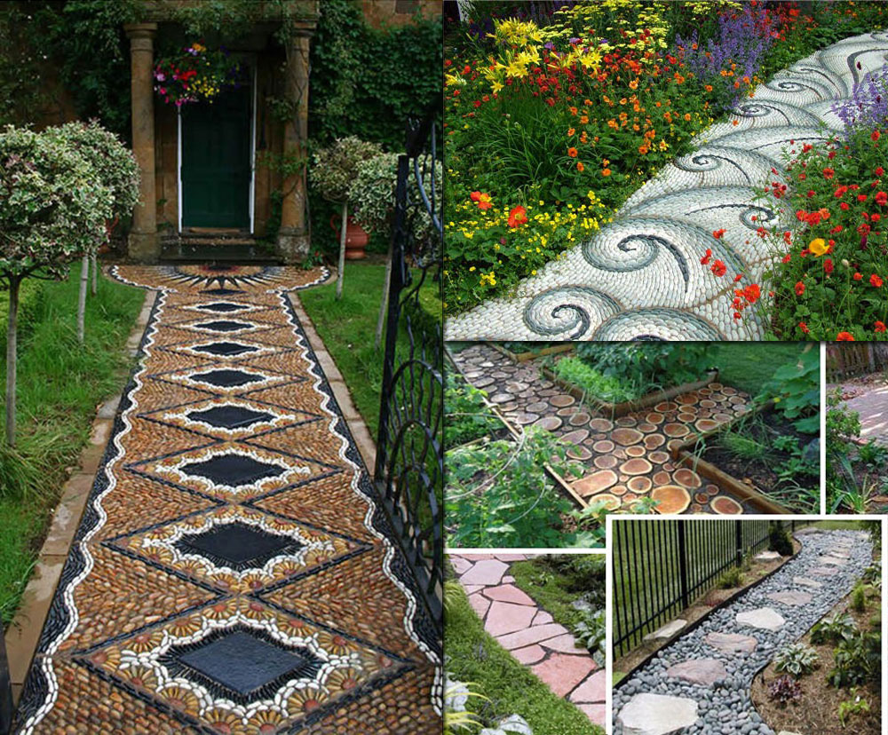 12 lovely garden path and walkways ideas home and for Paving designs for small garden path