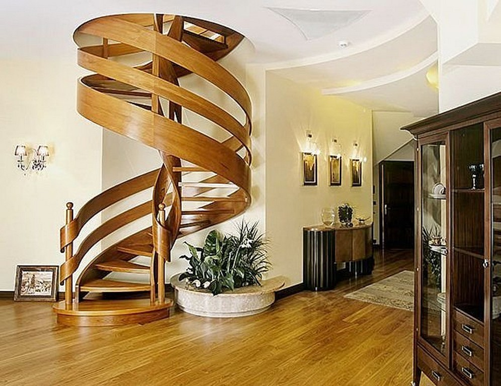 22 modern innovative staircase ideas home and for Spiral staircase design plans