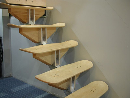 The Skateboard Staircase