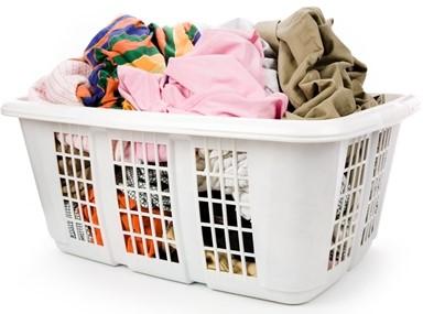 dust bin in small laundry room