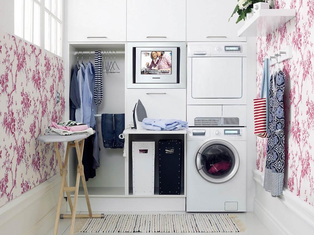 ironing arrangement in small laundry