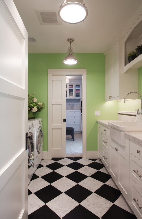 light arrangement in small laundry room