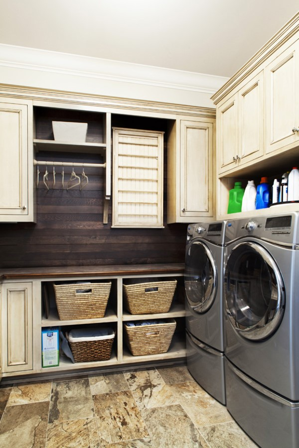10 clever small laundry room storage and organization ... on Laundry Room Organization Ideas  id=28712