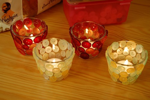 Buttoned Candle Holders