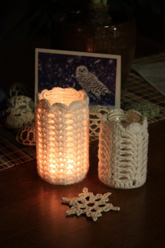 Crochet Votive Candle Holder