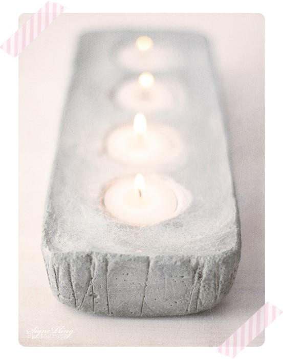 DIY Advent Stake in Concrete