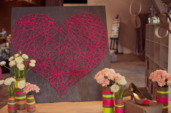DIY String Heart Wall Art Design