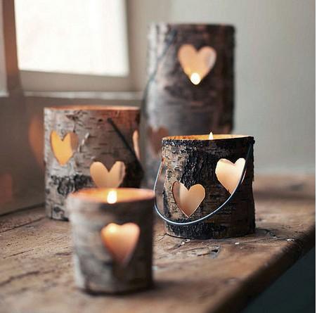 Homemade Heart Lanterns