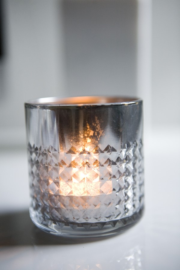Mercury Glass Candle Holders