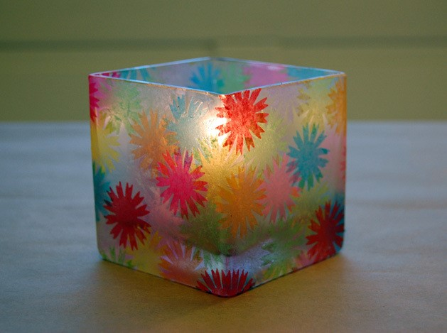 Stained Glass Votive Candle Holders