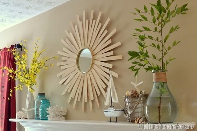 Sunburst Mirror Wall Art Design