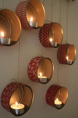 Tuna Cans Candle Holders