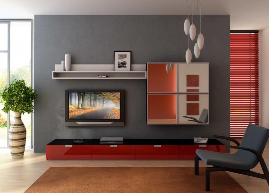 accented wall idea - Modern Living Room Chairs