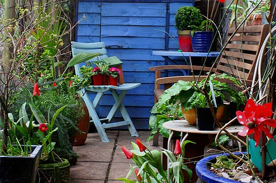adding colours to the nature - Tiny Patio Garden Ideas