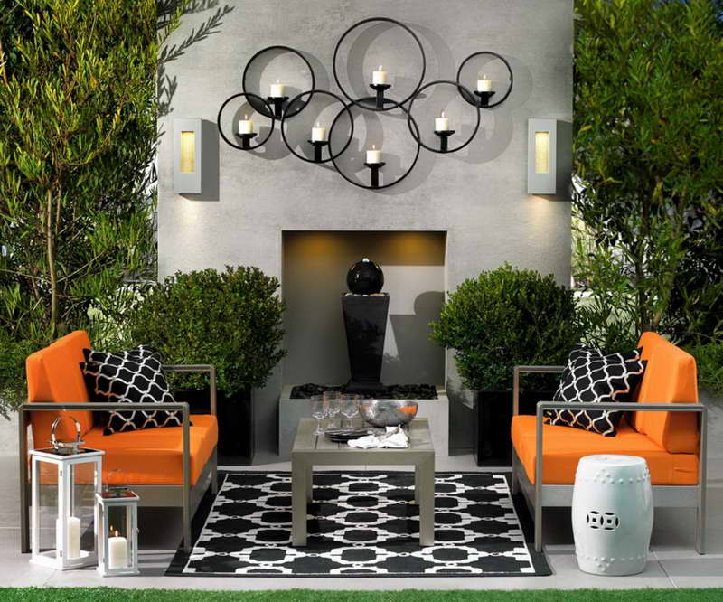 15 Fabulous Small Patio Ideas To Make Most Of Small Space ... on Black And White Patio Ideas id=53114