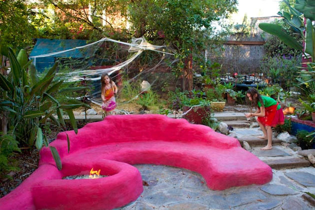 Fire Pit With A Seating Area