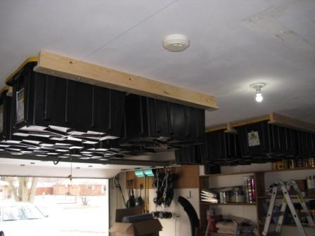 Lumber Ceiling Garage Storage