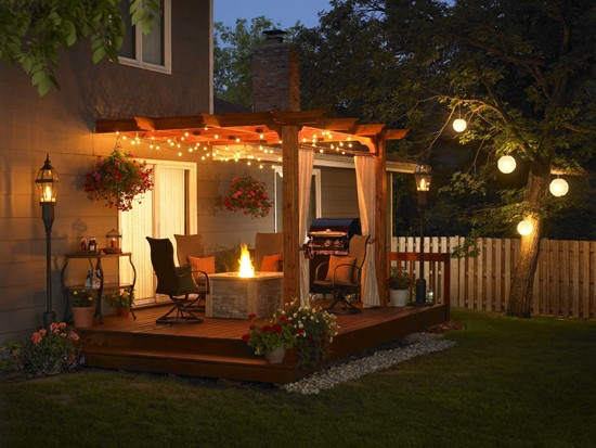 Outdoor small patio ideas with fire pit