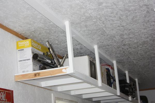 Diy Overhead Garage Storage 15 smart diy garage storage and ...