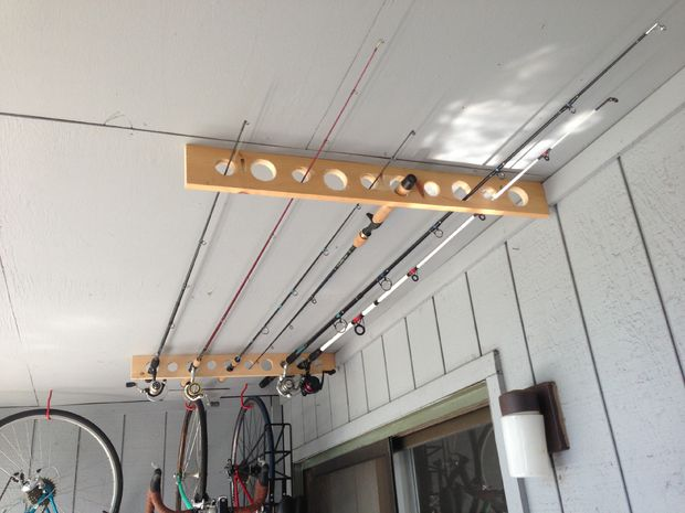 Secure Fishing Pole Storage