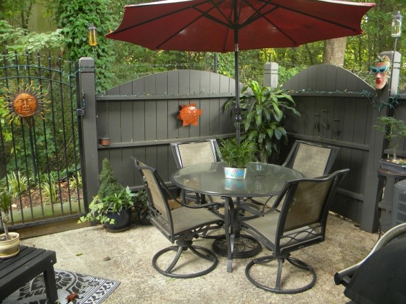 15 Fabulous Small Patio Ideas To Make Most Of Small Space ... on Cheap Backyard Decor id=61731
