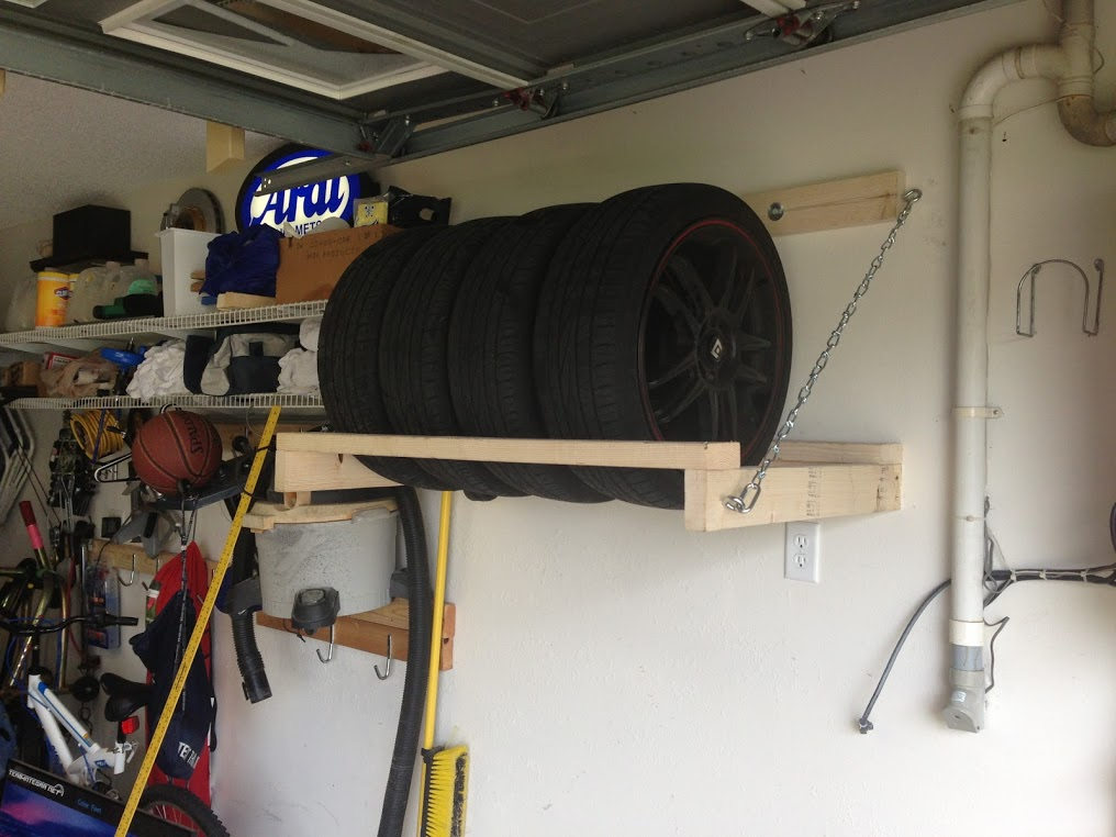 15 Smart Diy Garage Storage And Organization Ideas Home & Outdoor Tire Storage - Listitdallas