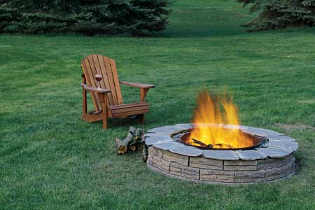 Ultra-retro Garden Fire Pit