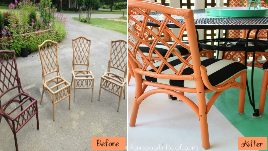 Colored Makeover for Chairs