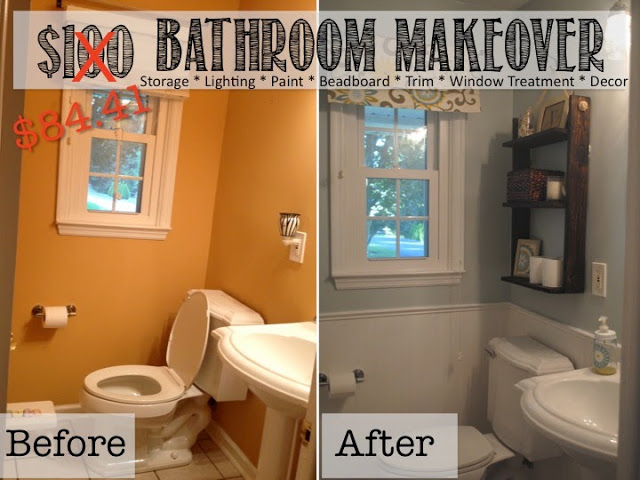 Diy bathroom makeovers on a budget 2017 2018 best cars for Small bathroom makeover ideas