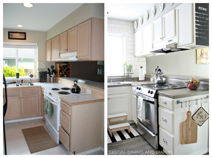 Home makeover ideas 25 diy projects to update your home for Before after kitchen makeovers