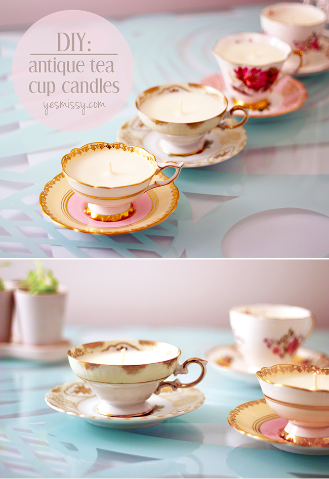 Antique Tea Cup Candles