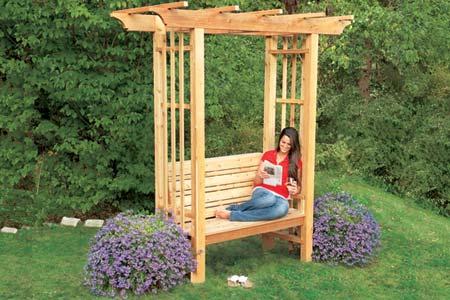 Arbor Garden Bench