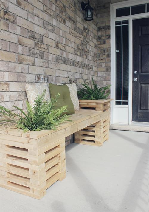Cedar Wood Corridor Bench