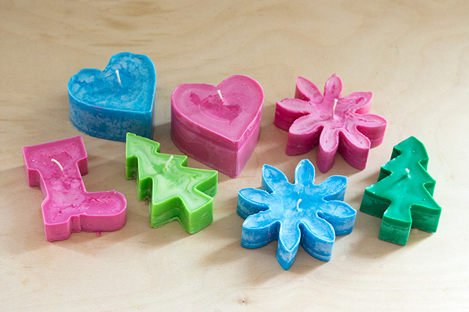 Cookie Cutter Mold Candles