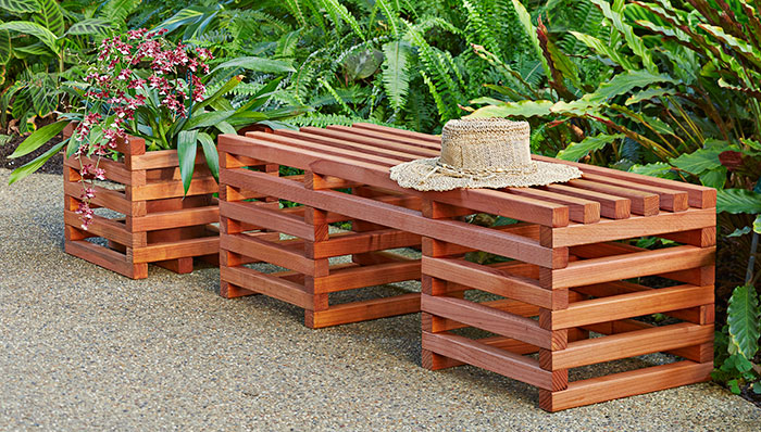 crib style outdoor bench plans